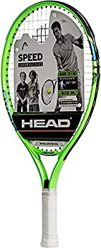 HEAD Speed Kids Tennis Racquet - Beginners Pre-Strung Head Light Balance Jr Racket - 19 Inch Green