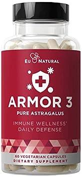 60-Count Armor 3 Pure Astragalus 1000 Mg Vegetarian Soft Capsules