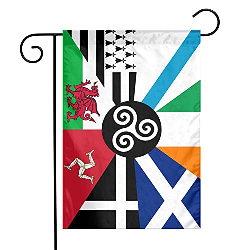 Combined Flag Of The Celtic Nations Garden Flag, Vertical Double Sided Yard Flag, Outdoor Decoration,12x18 Inch