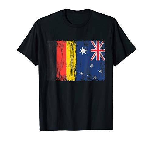 Deutschland Australien Australia Down Under Fahne Flaggen T-Shirt