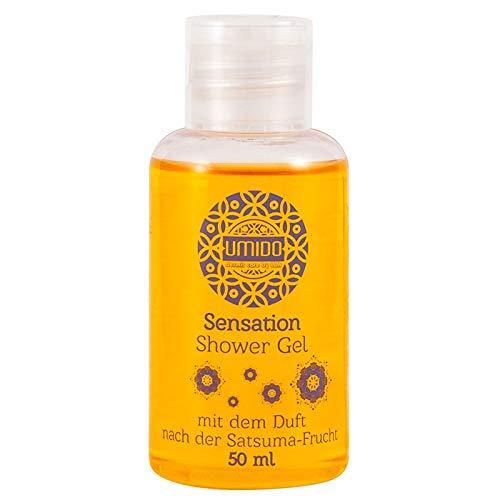 144x UMIDO Duschgel 50 ml Satsuma-Frucht | Waschgel für Körper, Gesicht und Haare | sanfte Pflegedusche | Körperpflege (11-B2B)