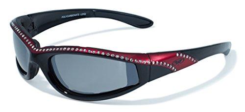 Global Vision Eyewear Black and Red Frame Marilyn 11 Ladies Riding Glasses