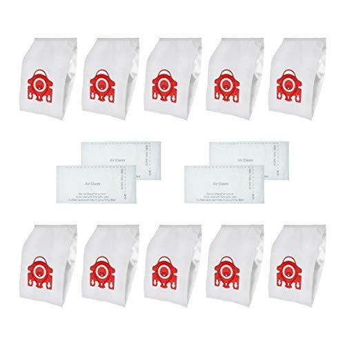 WuYan 10 bolsas de polvo de repuesto para MIELE FJM C1 y C2 tipo sintético Hoover Hepa bolsas de polvo con 4 filtros