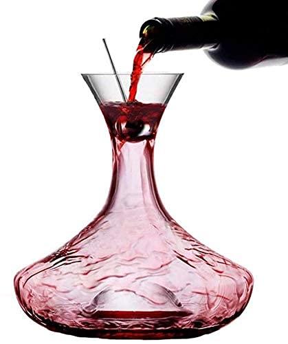 Decantador De Vino Jarra De Jarra De Vino con Tapón De Acero Inoxidable, Copas De Vidrio Soplado A Mano, Mejora El Sabor Y El Aroma del Vino
