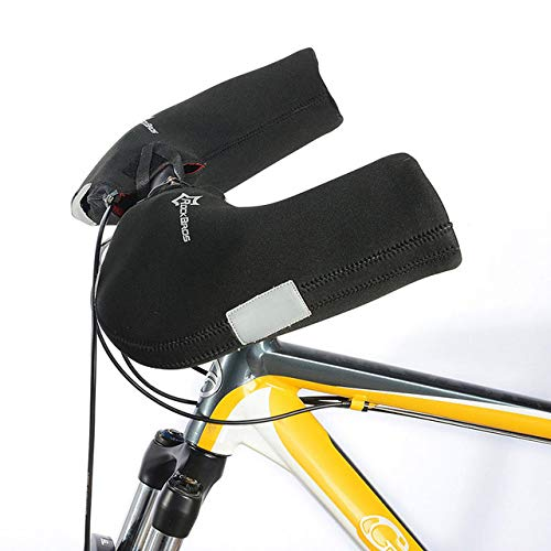 Guantes de Invierno para el Manillar de Bicicleta a Prueba de Viento y a Prueba de Viento Guantes de Bicicleta Impermeables para Calentamiento de montaña para Hombres - MTB Bike, 3