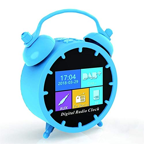 Mini DAB/DAB Radio Portable FM Clock Radio, Bluetooth Music Player Rechargeable with TF Card Full Color LCD Sn