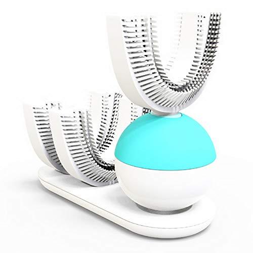 WODT U-Form Elektrische Zahnbürste 360 Grad Wiederaufladbare Ultraschall-Zahnbürste Drahtlose Freisprecheinrichtung Vollautomatische Zahnaufhellung