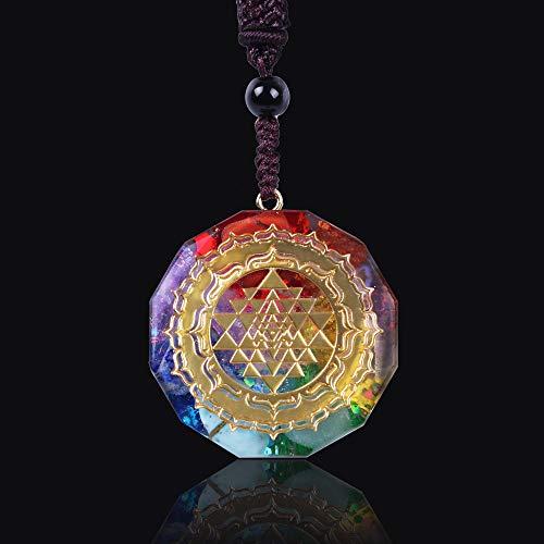 Colgante Collar Geometría Sagrada Chakra Energía Collar Meditación Joyería