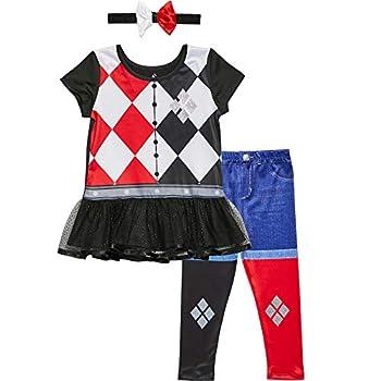 Warner Bros Harley Quinn Baby Girls T-Shirt Leggings & Headband Set 12-18 Months