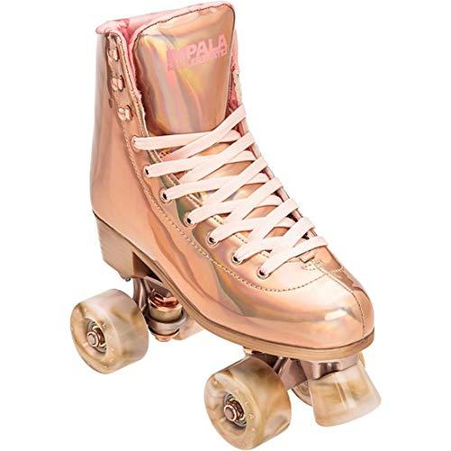 Impala Rollerskates Girl's Impala Quad Skate (Big Kid/Adult) Marawa Rose Gold 10 (US Men's 8, Women's 10) M