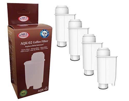 AQUA CREST 5 x Wasserfilter AQK-02 ersetzt Brita Intenza+ Saeco CA6702/00 CA6706/48 für Saeco/Philips/Gaggia Kaffeemaschine - Kaffeevollautomat