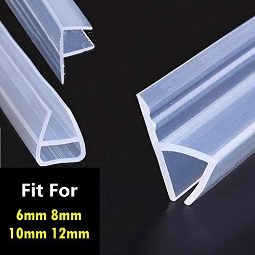 1M 6-12mm FUH vorm glazen deurafdichtingen siliconenrubber doucheruimte deur vensterglas afdichting strip tochtstrip raamdeur, 8mm, h