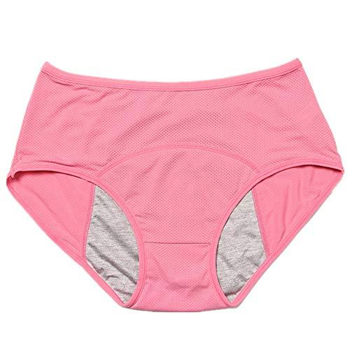 N\P Ropa interior a prueba de fugas, pantalones fisiológicos, ropa interior para mujer, algodón impermeable, tamaño grande