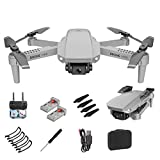 Mini Drone con cámara de Video en Vivo, E88 WiFi FPV Quadcopter con cámara HD 1080P / 4K / 30W, Drone RTF Plegable para Principiantes Mantener la altitud, Modo sin Cabeza