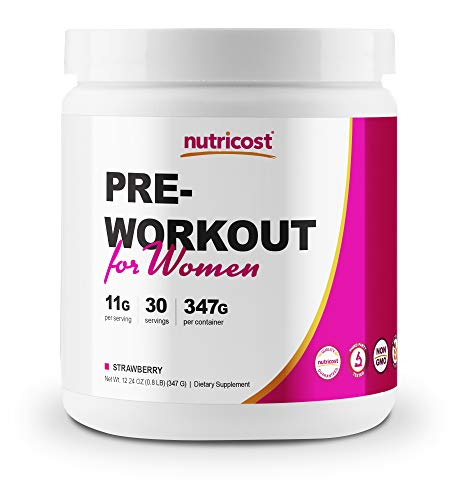 Nutricost Pre-Workout Powder for Women 30 Serv (Strawberry)