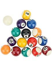 Keenso Mini Bolas de Billar de Resina Juguete de Bola de Billar para niños ecológico 16 Piezas 38 mm Mesa de Billar Bolas de Entrenamiento de Billar