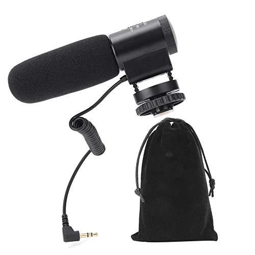 Cameramicrofoon, MIC-03 Microfoon met hoge gevoeligheid Condensator Videomicrofoon VideoMicro Mobiele telefoon DSLR-camera's Live fotografie Camera-interview