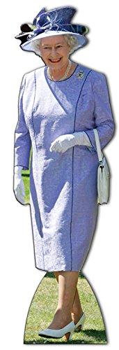Star Cutouts Aufsteller Queen Elizabeth II im fliederfarbenen Kleid