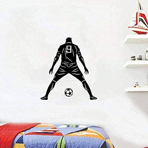 Etiqueta De La Pared De Vinilo Decoración De La Pared Etiqueta De Bricolaje Lindo Portero Fútbol Decoración Del Hogar Patrón 49 Cm X 55 Cm