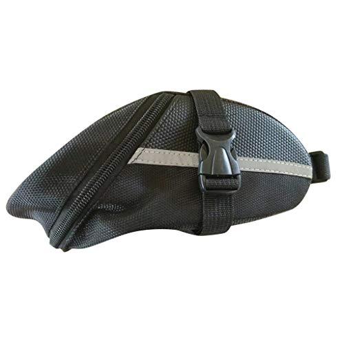 FENSIN Fahrradtasche Satteltaschen wasserdichte Aufbewahrung Satteltasche für Fahrrad,Allwetter Fahrradtasche für den Sattel (Schwarz)