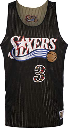 Mitchell & Ness Reversible Philadelphia 76ers/All Star Iverson Camiseta black/gold