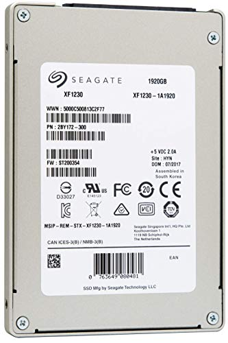 Seagate Nytro SATA 6Gb/s SSD SED 1920GB 6,4cm 2,5Zoll NAND Flash Type eMLC