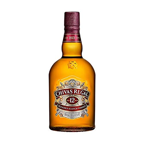 Chivas Regal 12 Jahre Premium Blended Scotch Whisky – 12 Jahre gereifter Blend aus schottischen Malt & Grain Scotch Whiskys aus der Region Speyside – 1 x 1 L