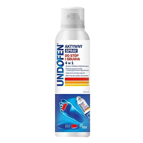UNDOFEN - Spray per piedi e scarpe 4 in 1 150ml - contiene 100% ingrediente naturale Dermosoft, che ha un alto effetto antibatterico elimina sudorazione eccessiva e odore.