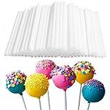 AVEE 80pcs Plastic Eco-Frien Lollipop Sticks Torta Pop bastoni Cioccolato Zucchero attrezzo del creatore di Caramella, rendendo Muffa Bianca