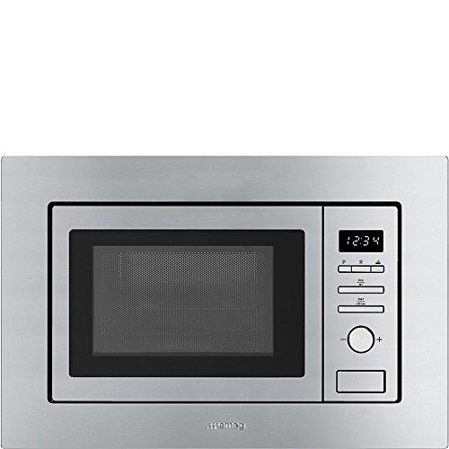 Smeg FMI017X Incasso Microonde con grill 20L 800W Acciaio inossidabile forno a microonde
