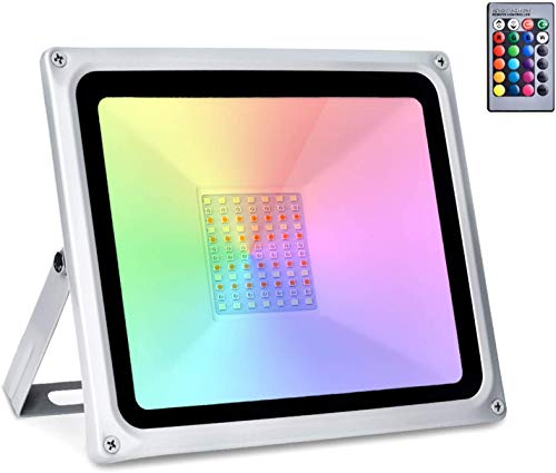 Sararoom 50W RGB Foco LED,IP65 focos led exterior,16 Colores...