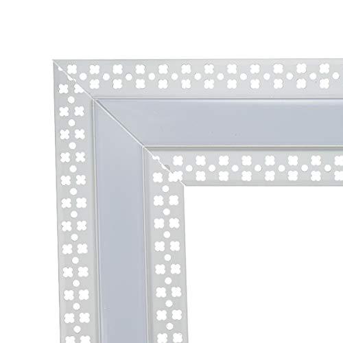2 pares/4 piezas LED Canal esquinero, adaptador en forma de L para StarlandLed Plaster-in Slim LED Canal de aluminio con brida