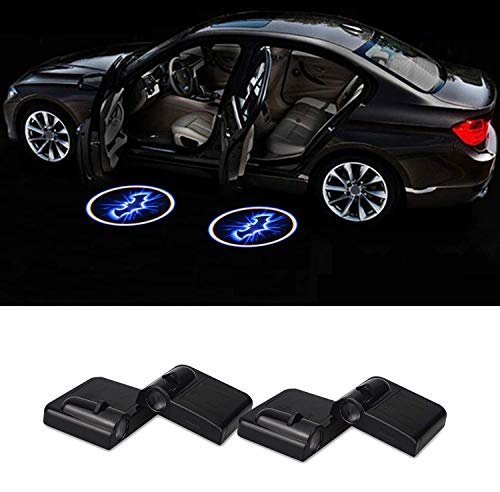 Preisvergleich Produktbild Auto-Tür-Licht,  4pcs Universal Wireless LED Auto-Tür-Willkommens-Licht Courtesy Willkommen LED-Projektor Logo-Lampe Batterie gina