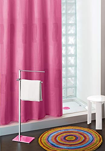 Gedy Duschvorhang aus Polyester einfarbig lila 180x 200