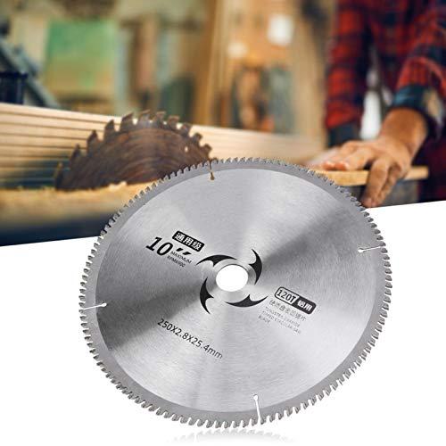 Discos de corte redondos de 9,8 x 0,09 x 1 pulgada Hoja de corte de sierra Hoja de corte de sierra circular 100T 120T Dientes opcionales con junta para procesamiento de madera(120T)