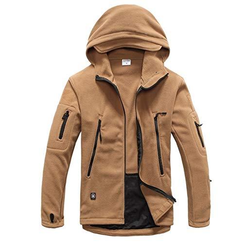 Crashm Softshell-Jacke für Herren, aus Fleece, mit Haifischhaut