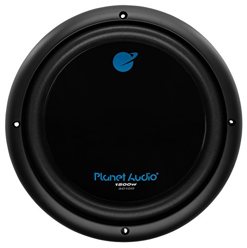 Planet Audio AC10D 10 Inch Car Subwoofer - 1500 Watts Maximum Power, Dual 4 Ohm Voice Coil, Sold Individually