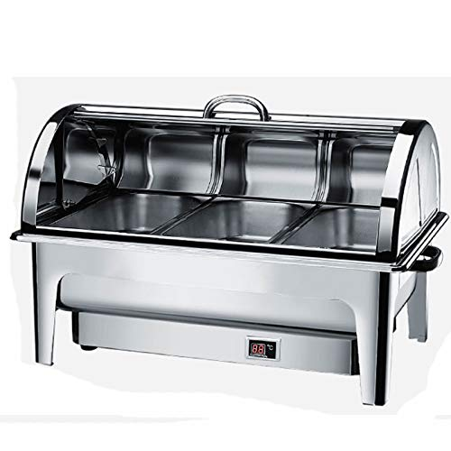 MAYAOEY Chafing Dish Chauffe Plat Buffet Electrique, Chauffe-Plat Buffets Chauffants Commerciale, Parfait pour Les Buffets, Banquets, Température Réglable (35-85 °)