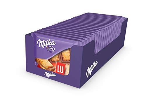 Milka - Mini tablettes de chocolat au lait aux biscuits LU- Format...