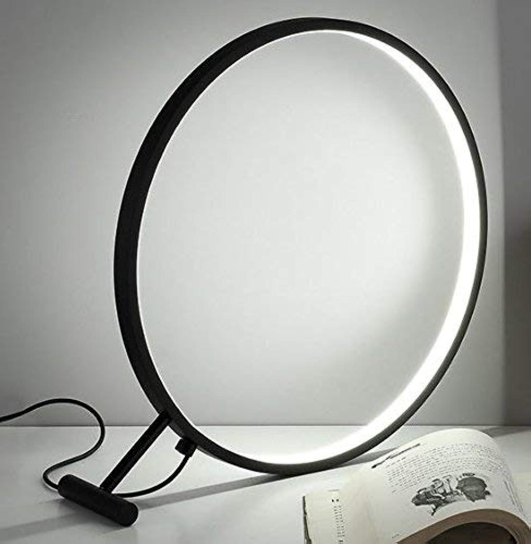 Schreibtischlampe runde LED Tischlampe (Farbe Schwarz)