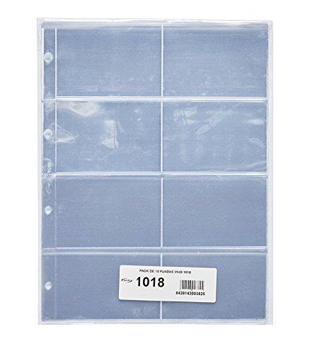 Pardo 101800 - Pack de 10 fundas para colección variada, 8 alojamientos