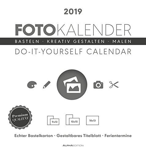 Foto-Bastelkalender 21 x 22 datiert - weiß 2019