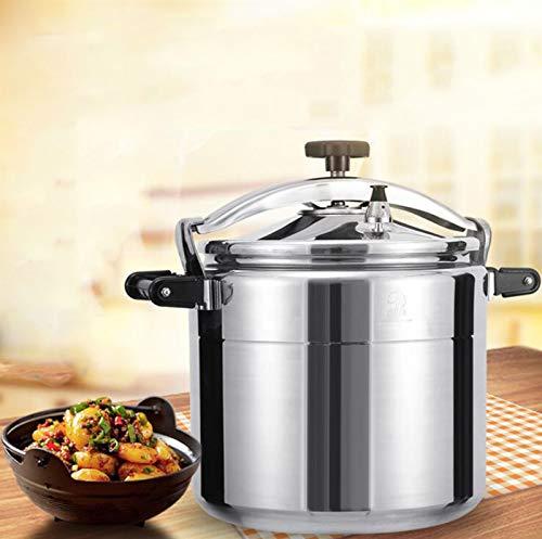 15L ~ 40Lexplosionsgeschützter Druckkocher, Edelstahl-Suppentopf, langsamer Kocher mit großem Kapazität, Kochutensilien für Familienrestaurants, Kantinen, Schulküchen, ( Color : Silver , Size : 40L )