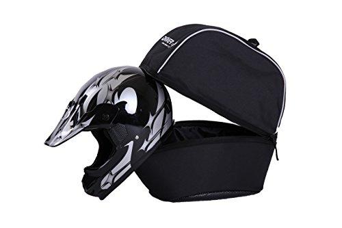Driver13 ® Bolsa para Casco XL para Casco de Moto, Bolsa para Casco de Motocross negra acolchada