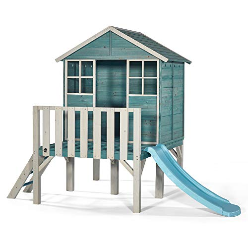 Plum® Boat House Wooden Playhouse - Teal