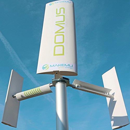 MAKEMU Energy Neue Windgenerator Home Domus Plus klein mini micro Schaufel Windmühle 12/24V Achse senkrecht Darrieus Savonius Haus Terrasse Dach Garten