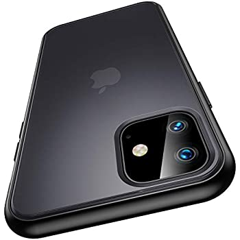 Meifigno Magic Series Compatible with iPhone 11 Case [Military Grade Drop Tested] Translucent Matte PC with Soft Edges Shockproof Phone Case Designed for iPhone 11 6.1 inch  2019  Black