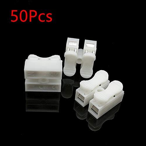 Sean New Material CH-2 Quick Terminal for Ceiling lamp 2-Position Terminal Block Self-Locking Push-Type Terminal 50Pcs