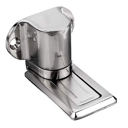 YGWE Non-slip Door StopperMount Door Catch Free Punching Door Holder Solid Zinc Alloy Adjustable Magnetic Door Stopper Hidden Floor (Size:Figure; Color:Silver)