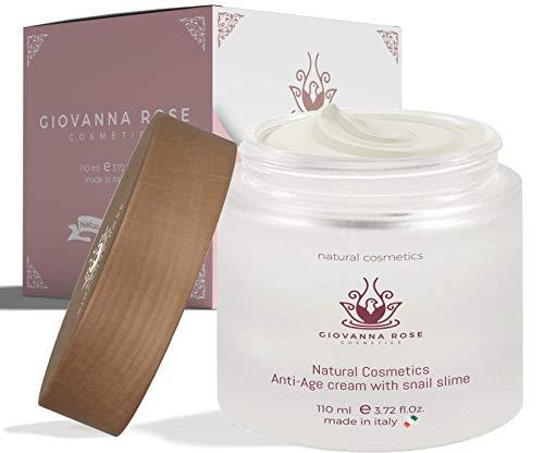 Crema facial antiarrugas 110ml 73% de baba de caracol y 8 activos funcionales Crema hidratante natural antienvejecimiento para cuello facial y escote Made in Italy
